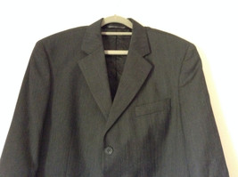 Gray Black Suit Jacket with Pockets by Victor International See Measurements image 2