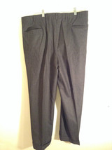 Gray Brooks Brothers Wool Pleated Front Dress Pants Waist 38 Inches image 2