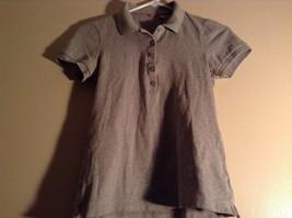 Gray Collared Short Sleeve Five Button Closure Polo Shirt Size XS  Uniqlo image 4