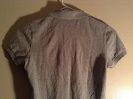 Gray Collared Short Sleeve Five Button Closure Polo Shirt Size XS  Uniqlo image 6