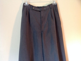 Gray Casual Pants Size 6 Crazy Horse Liz Claiborne One Back Pocket Belt Loops image 2