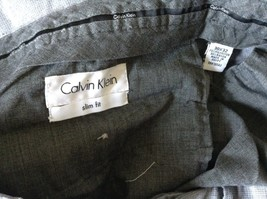 Gray Dress Pants by Calvin Klein Made in Egypt Size 30 by 32 Slim Fit image 8