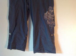 Gray Capri Pants by Style and Company Petite Size 12 Flower on Side image 2