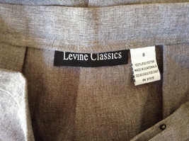 Gray Dress Pants by Levine Classics 100 Percent Polyester Size 8 image 11