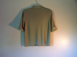 Gray Laura Scott Size Large Button Up Short Sleeve Collared Sweater image 4