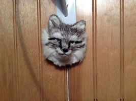 Gray Furry Fox Head Magnet Made with Recycled Rabbit Hair by Lifes Attractions image 2