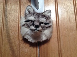 Gray Furry Fox Head Magnet Made with Recycled Rabbit Hair by Lifes Attractions image 3