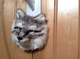 Gray Furry Fox Head Magnet Made with Recycled Rabbit Hair by Lifes Attractions image 6
