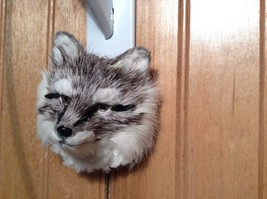 Gray Furry Fox Head Magnet Made with Recycled Rabbit Hair by Lifes Attractions image 5