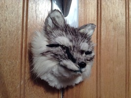 Gray Furry Fox Head Magnet Made with Recycled Rabbit Hair by Lifes Attractions image 4