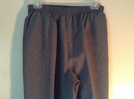 Gray Dress Pants by Liz Thomas Size 10 Stretch Waistband image 2
