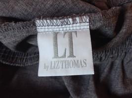 Gray Dress Pants by Liz Thomas Size 10 Stretch Waistband image 3