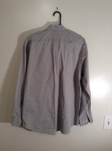 Gray Eddie Bauer Button Front Long Sleeve Cotton Shirt Size M Wrinkle Resistant image 5