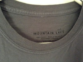 Gray Mountain Life 100 Percent Cotton Short Sleeve Golf Graphic T Shirt Size L image 3
