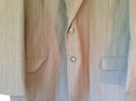 Gray Pin Striped Town Craft Suit Jacket No Size Tag Measurements Below image 6