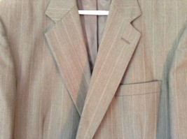 Gray Pin Striped Town Craft Suit Jacket No Size Tag Measurements Below image 5