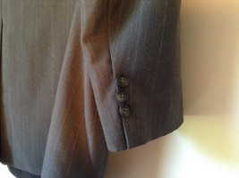 Gray Pin Striped Town Craft Suit Jacket No Size Tag Measurements Below image 8