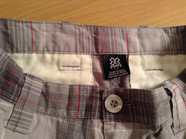 Gray Plaid Shorts by Games Size 12 Side and Back Pockets Button Zipper Closure image 5