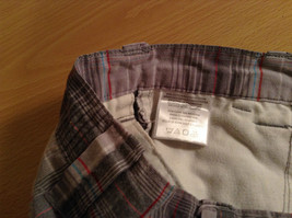 Gray Plaid Shorts by Games Size 12 Side and Back Pockets Button Zipper Closure image 6