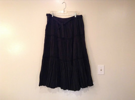 Isaac Mizrahi Black Pleated Skirt with Belt Size XXL Elastic Waist image 2