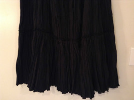 Isaac Mizrahi Black Pleated Skirt with Belt Size XXL Elastic Waist image 4