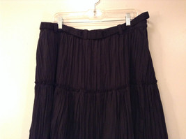 Isaac Mizrahi Black Pleated Skirt with Belt Size XXL Elastic Waist image 5