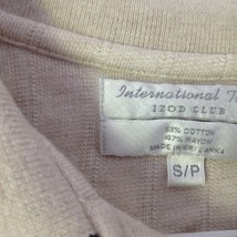 International Tour IZOD Club Beige with Black Accents Polo Shirt Size Small image 5
