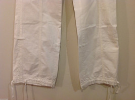International Concepts White Casual Pants with Pockets and PEACE sign, Size 6 image 5