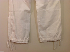 International Concepts White Casual Pants with Pockets and PEACE sign, Size 6 image 8