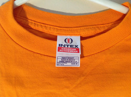 Intex Bright Orange Short Sleeve T-Shirt Los Angeles County Jail on Front Size M image 3