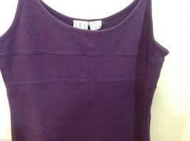 International Concepts Intimates Purple Plum 100% Cotton Night Gown Slip, Size M image 2