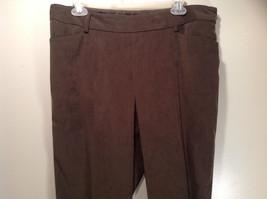 J McLaughlin Size 14 Dark Green Brown Side Zipper Closure Casual Pants USA image 2