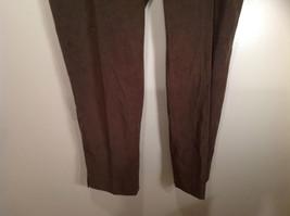J McLaughlin Size 14 Dark Green Brown Side Zipper Closure Casual Pants USA image 3