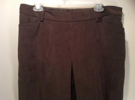 J McLaughlin Size 14 Dark Green Brown Side Zipper Closure Casual Pants USA image 4