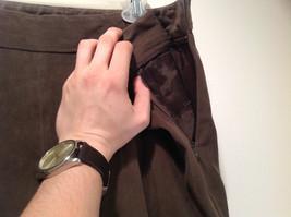 J McLaughlin Size 14 Dark Green Brown Side Zipper Closure Casual Pants USA image 5