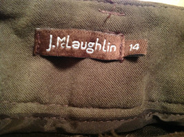 J McLaughlin Size 14 Dark Green Brown Side Zipper Closure Casual Pants USA image 11