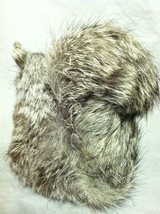 Gray Squirrel w/ fluffy tail Animal Figurine - recycled rabbit fur image 4
