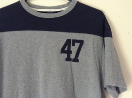 Gray T Shirt with Number 47 in Blue on Front GAP Size Large 100 Percent Cotton image 2