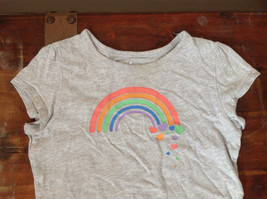 Gray Short Sleeve Shirt with Rainbow Design by Circo Size 6 to 6X image 3