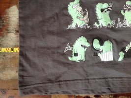 Gray Toddler T-Shirt with Green Dinosaurs from Threadless Kids Size 3T image 4