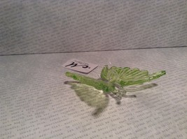Green Butterfly Ornament 3 Inches Long 100 percent glass image 4
