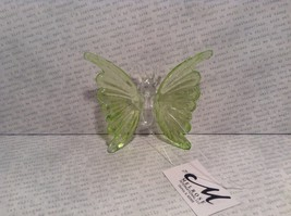 Green Butterfly Ornament 3 Inches Long 100 percent glass image 2