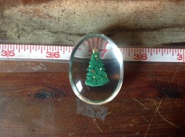 Green Christmas Tree Inside Clear Touch Stone image 4