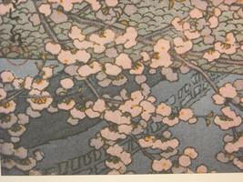 Japanese Woodblock Reprint 1947 Spring Evening at Kintaikyo Bridge image 4