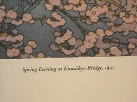 Japanese Woodblock Reprint 1947 Spring Evening at Kintaikyo Bridge image 5