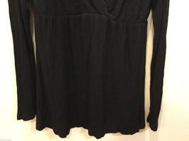 Japanese Weekend (JW) Maternity Black Stretchy Long Sleeve Blouse, Size L image 3