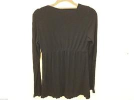Japanese Weekend (JW) Maternity Black Stretchy Long Sleeve Blouse, Size L image 4