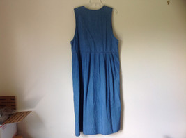 Jean Button Up Sleeveless Dress V Neckline Longer Length Karen Scott Size L image 6