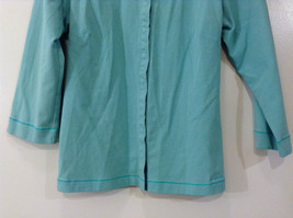 Green Patagonia Top Hidden Front Snap Closure Small  Slits on Sleeves Size M image 4