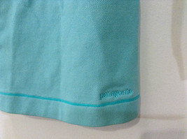 Green Patagonia Top Hidden Front Snap Closure Small  Slits on Sleeves Size M image 5